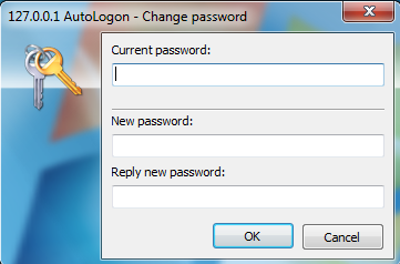 Changing the password set on the server.