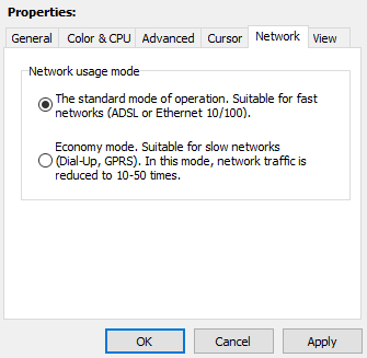 Network modes