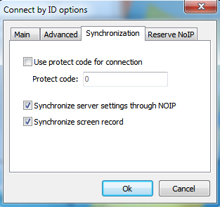 enable Settings synchronization through NOIP