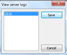 view and download the log file