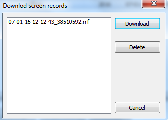 download/delete screen records