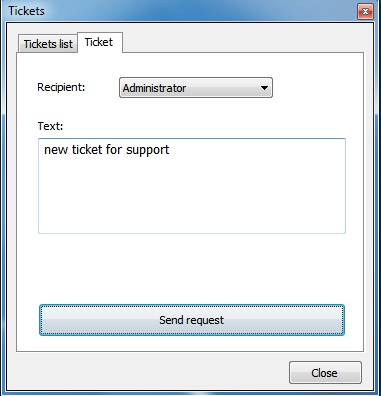 "new ticket click ""New ticket"""
